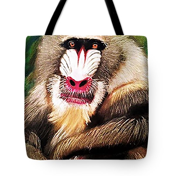 Baboon Stare Tote Bag