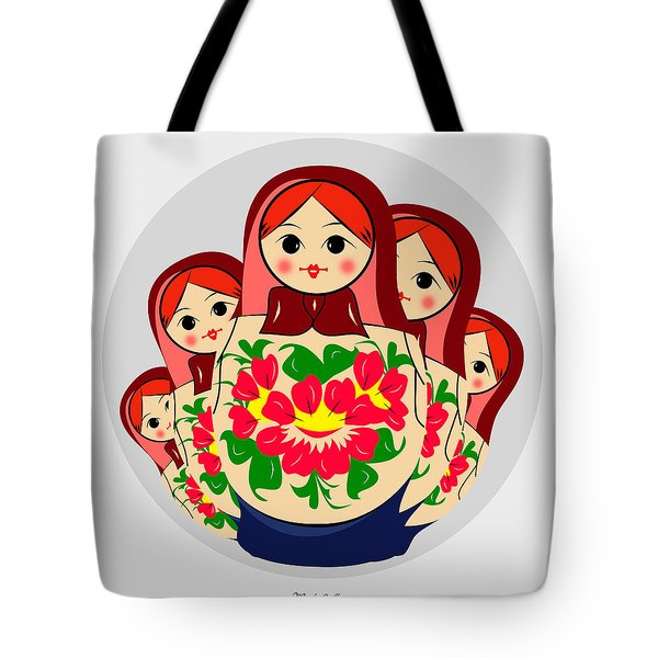 Babushka Tote Bag by Mark Ashkenazi