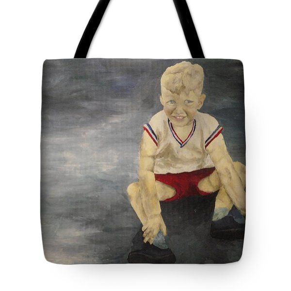 Tote Bag featuring the painting Baby Bill  by Mary Ellen Anderson