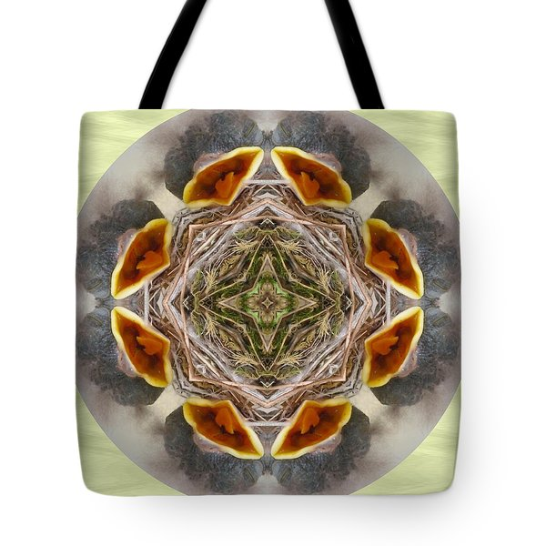 Baby Bird Kaleidoscope Tote Bag