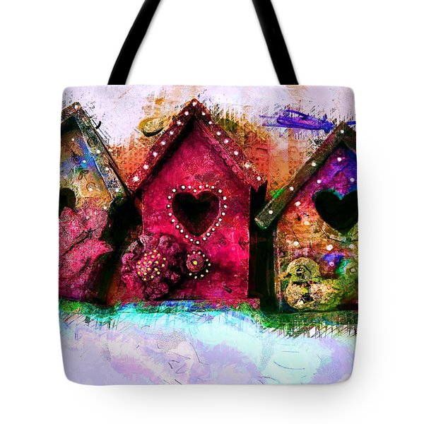 Baby Birdhouses Tote Bag