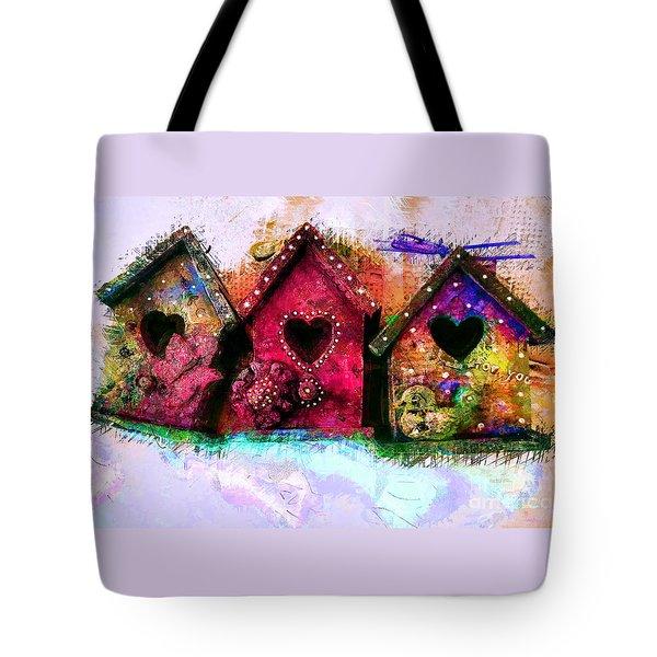 Baby Birdhouses Tote Bag