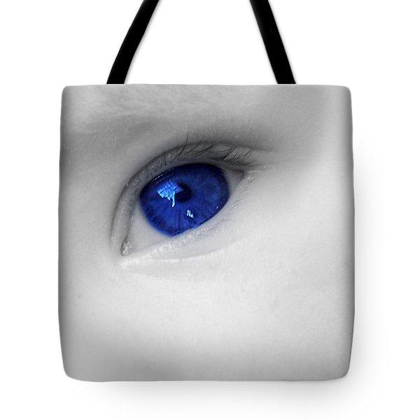 Baby Blue Tote Bag by Nina Ficur Feenan