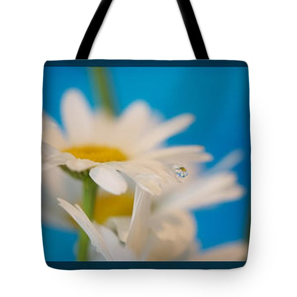 Baby Blue Triptych Tote Bag by Lisa Knechtel