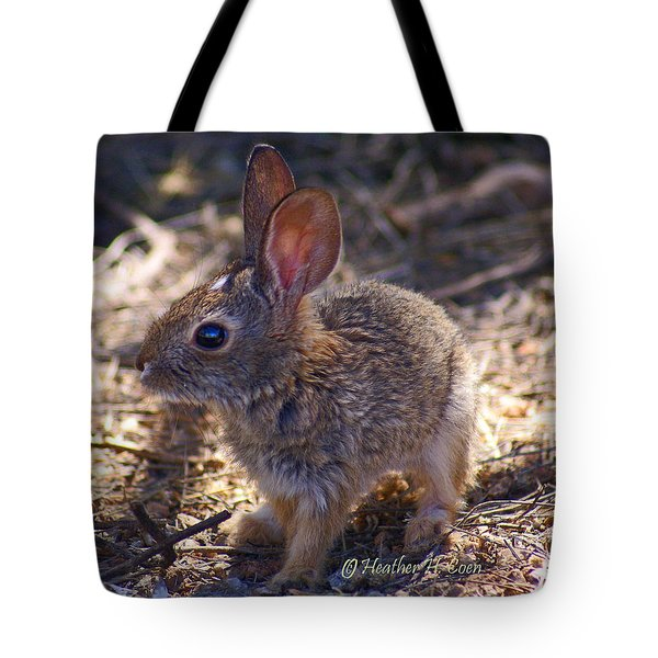 Baby Bunny Tote Bag by Heather Coen
