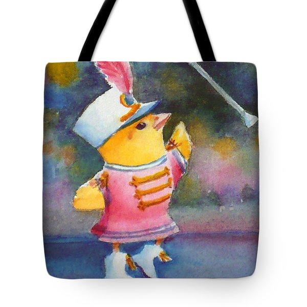 Baby Chick Drum Majorette Tote Bag