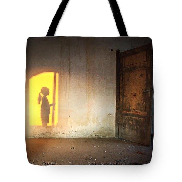 Baby Do Not Open That Door Tote Bag