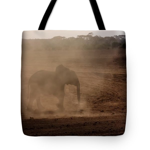 Tote Bag featuring the photograph Baby Elephant  by Amanda Stadther