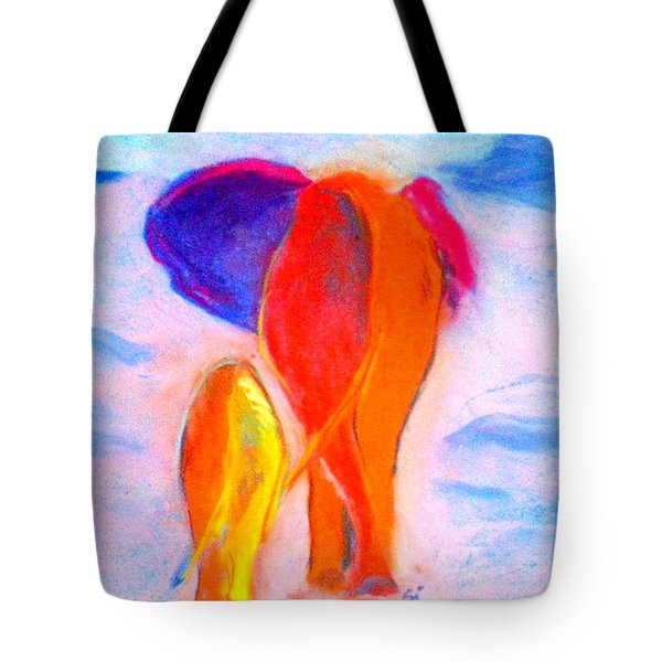 Baby Elephant And Mom Tote Bag