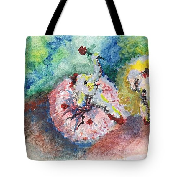 Baby Elephant Ballerinas Tote Bag