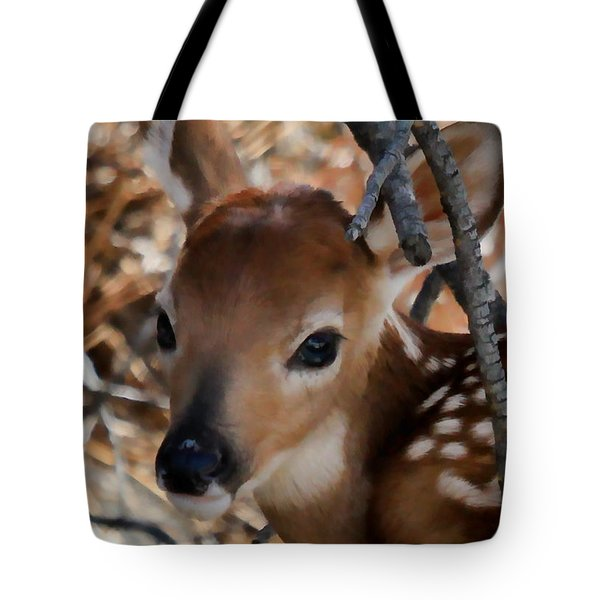 Baby Face Fawn Tote Bag
