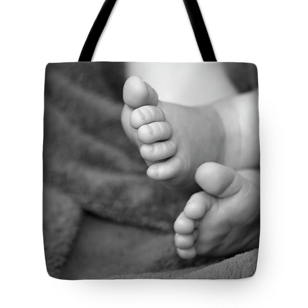 Baby Feet Tote Bag by Carolyn Marshall