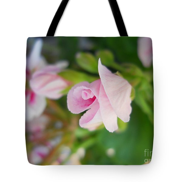 Tote Bag featuring the photograph Baby Geranium by Ramona Matei