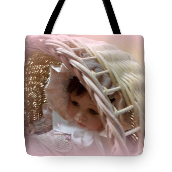 Baby In Pink Tote Bag