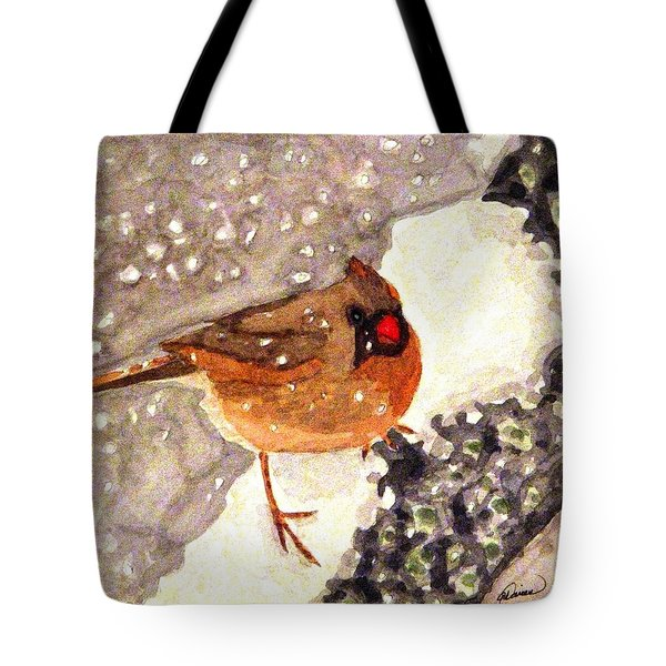 Baby Its Cold Outside Tote Bag by Angela Davies