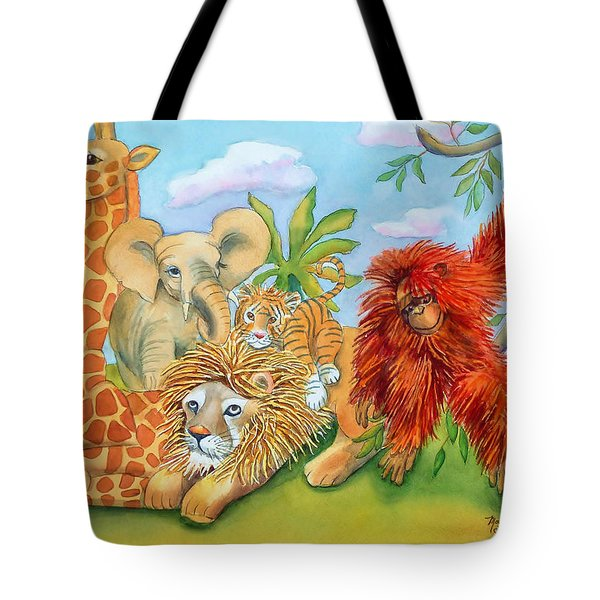 Baby Jungle Animals Tote Bag