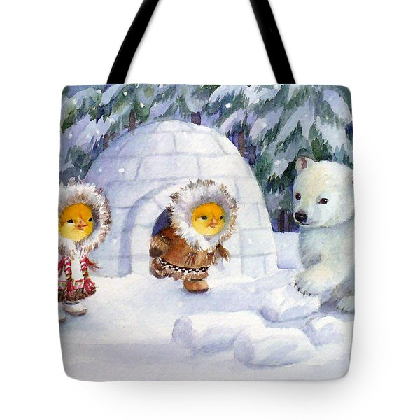 Baby Polar Bear Tote Bag