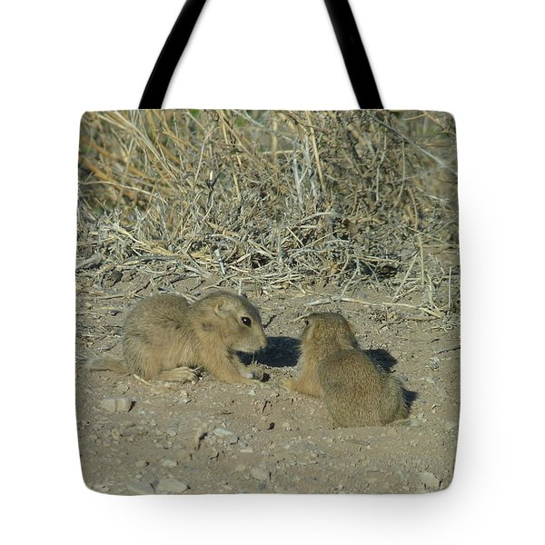 Baby Prairie Dog Tote Bag