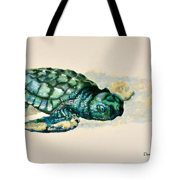 Da150 Baby Sea Turtle By Daniel Adams  Tote Bag