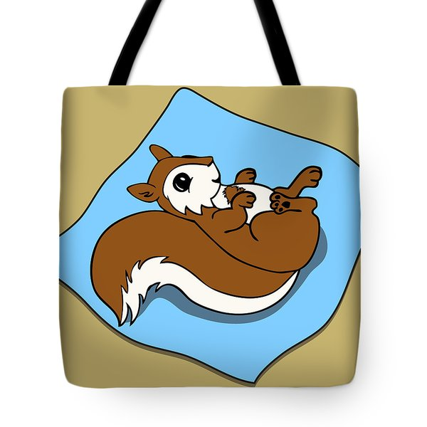 Baby Squirrel Tote Bag by Christy Beckwith