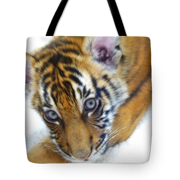 Baby Tiger Tote Bag by Steve McKinzie