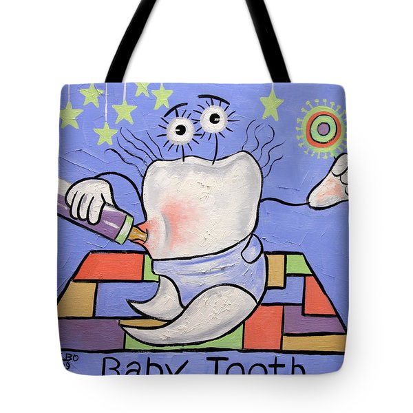 Tote Bag featuring the painting Baby Tooth by Anthony Falbo