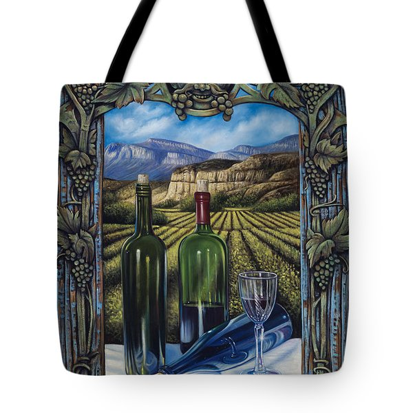 Bacchus Vineyard Tote Bag by Ricardo Chavez-Mendez