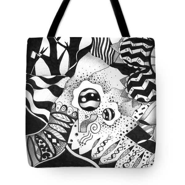 Back And Forth Tote Bag by Helena Tiainen
