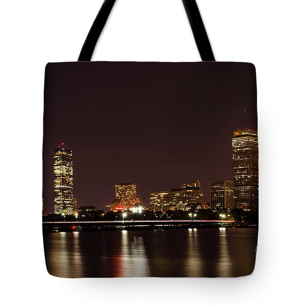 Tote Bag featuring the photograph Back Bay At Night by Mike Ste Marie