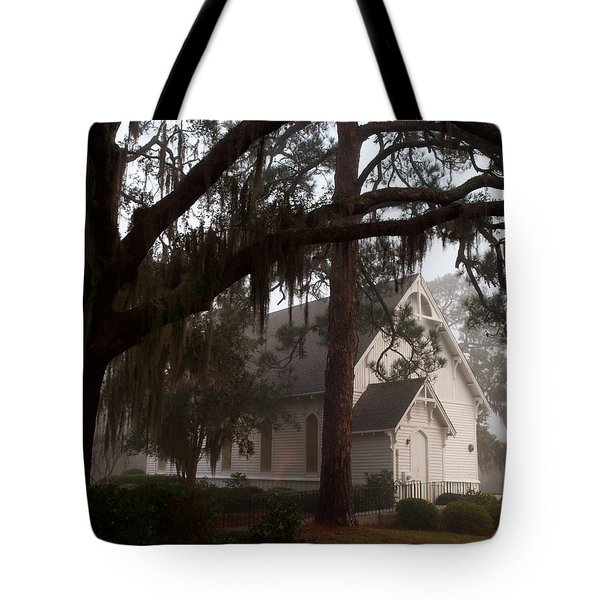 Tote Bag featuring the photograph Back Door Believer by Laura Ragland
