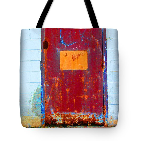 Tote Bag featuring the photograph Back Door by Christiane Hellner-OBrien