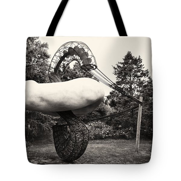 Back In Time At Grounds Of Sculpture Tote Bag by Eduard Moldoveanu