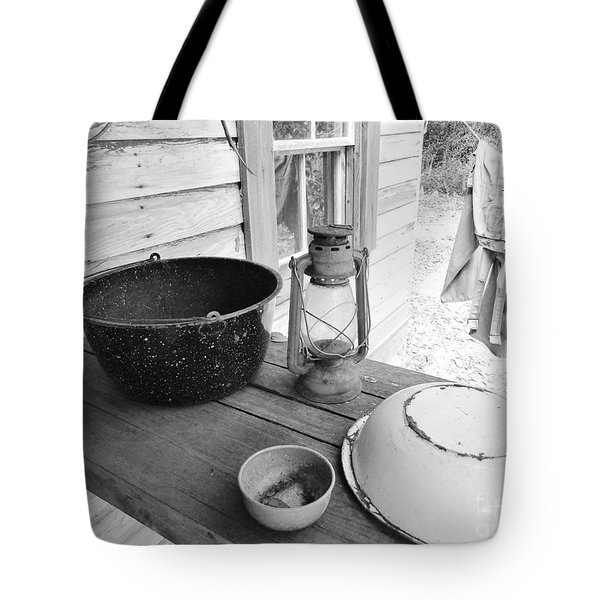 Back In Time B - W Tote Bag