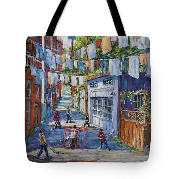 Back Lanes Hockey Champs By Prankearts Tote Bag