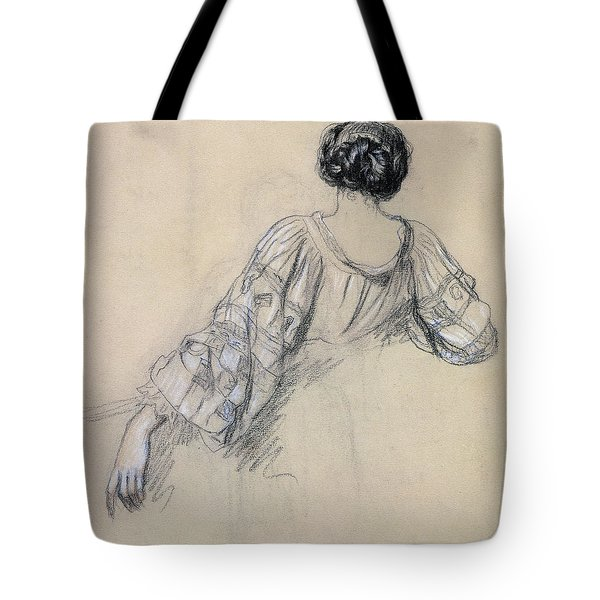 Back Of A Young Woman Tote Bag by Antoine Auguste Ernest Herbert