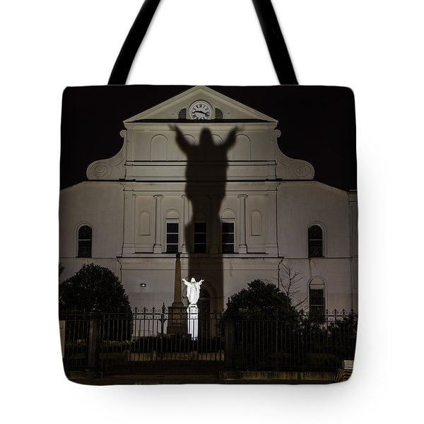 Back Of St Louis Cathedral In New Orleans Tote Bag