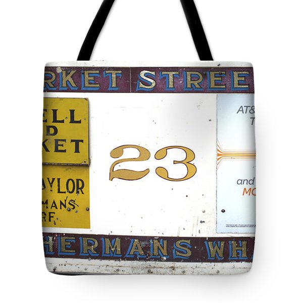 Back Of The Cable Car Tote Bag