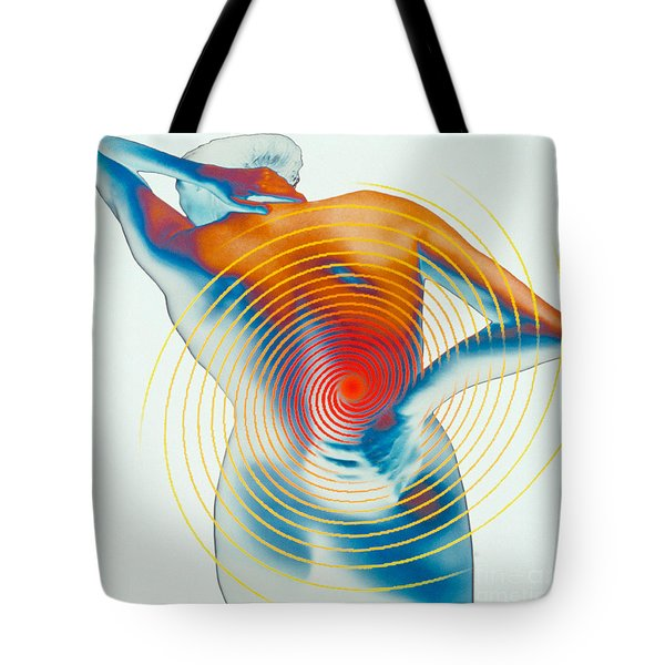 Back Pain Tote Bag by Dennis D Potokar