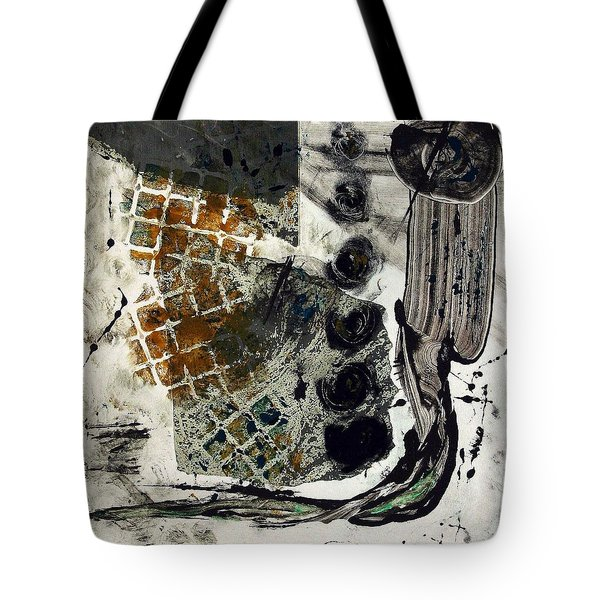 Tote Bag featuring the painting Back Path by Lesley Fletcher
