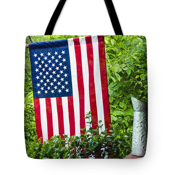 Back Porch Americana Tote Bag by Carolyn Marshall