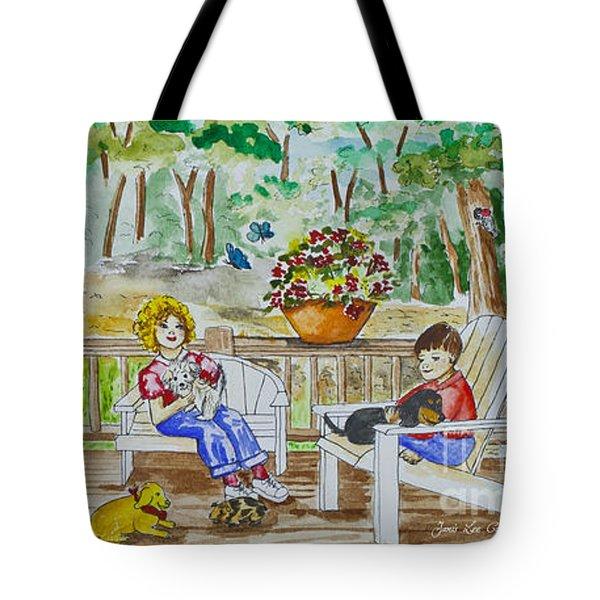 Back Porch Tote Bag