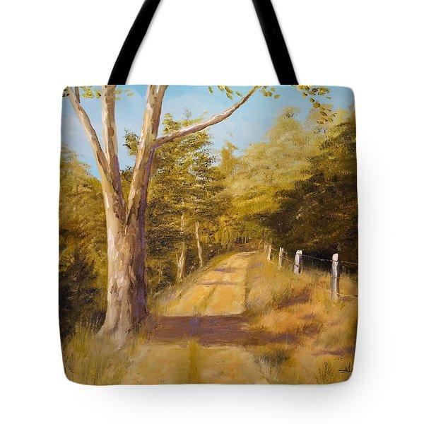 Back Road Tote Bag