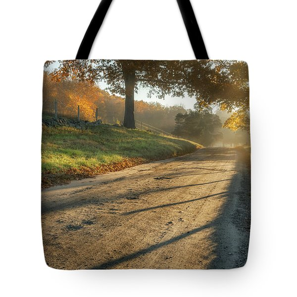 Back Road Morning Tote Bag by Bill Wakeley