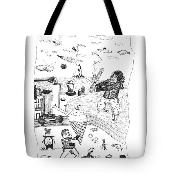 Back Rooms Of My Mind Door 17812 Tote Bag by Michael Mooney