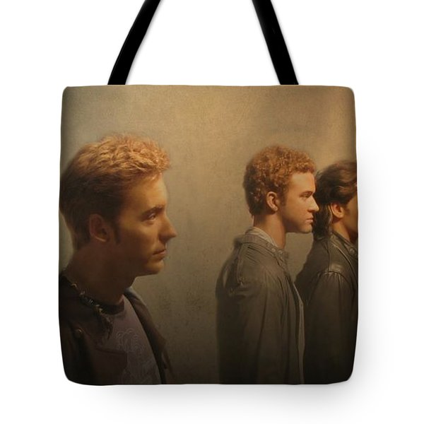 Back Stage With Nsync Tote Bag by David Dehner