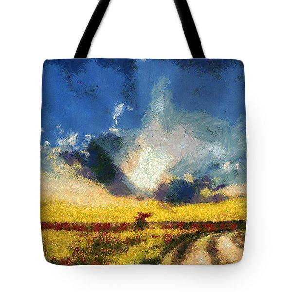 Tote Bag featuring the painting Back To Goodbye by Joe Misrasi