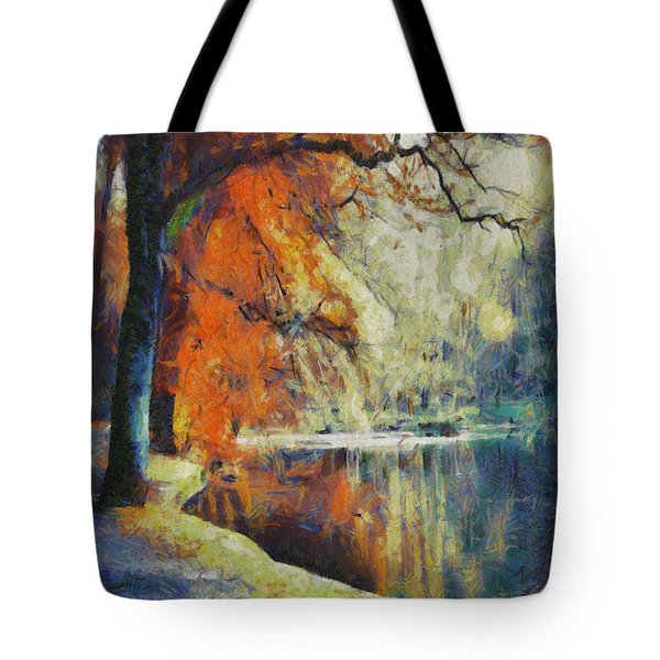 Tote Bag featuring the painting Back To Our Dreams by Joe Misrasi