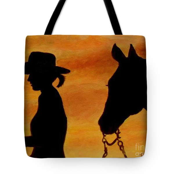 Tote Bag featuring the painting Back To The Barn by Julie Brugh Riffey