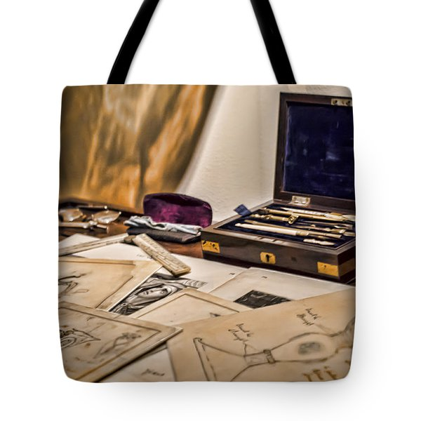Back To The Drawing Board Tote Bag by Heather Applegate