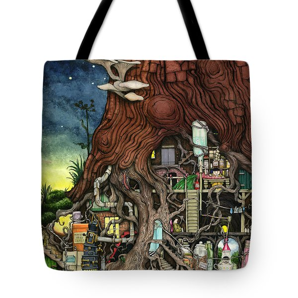 Back To Your Roots Tote Bag by Colin Thompson